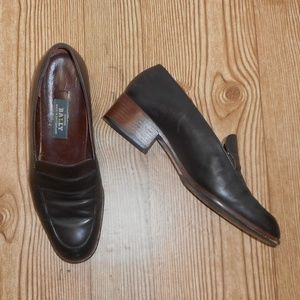 Bally brown leather loafers